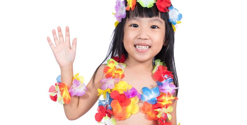 フラダンスで子供のストレスを解消!