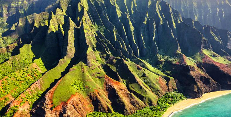 タヒチ島は自然豊かな環境
